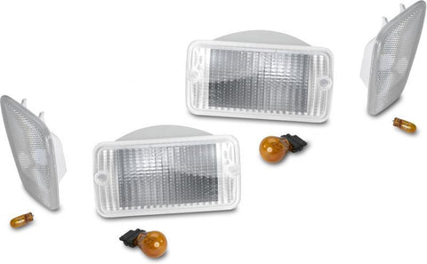 1997-2006 Jeep Wrangler Clear Corner & Turn Signal Lens Kit