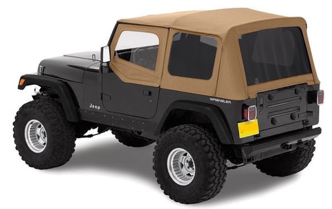 1988-1995 Jeep Wrangler Replacement Soft Top with Upper Door Skins & Tinted Rear Windows Spice