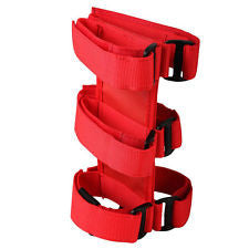 3 LB Fire Extinguisher Roll Cage Mount Strap in Red