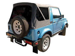 1986-1994 Suzuki Samurai Soft Top Black with Tinted Windows
