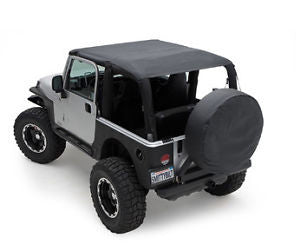 1992-1995 Jeep Wrangler Extended Bikini Top (color options)