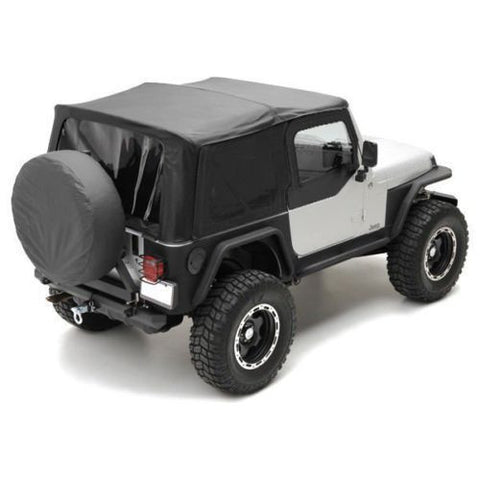 1997-2006 Jeep Wrangler Replacement Soft Top with Upper Door Skins Black Diamond