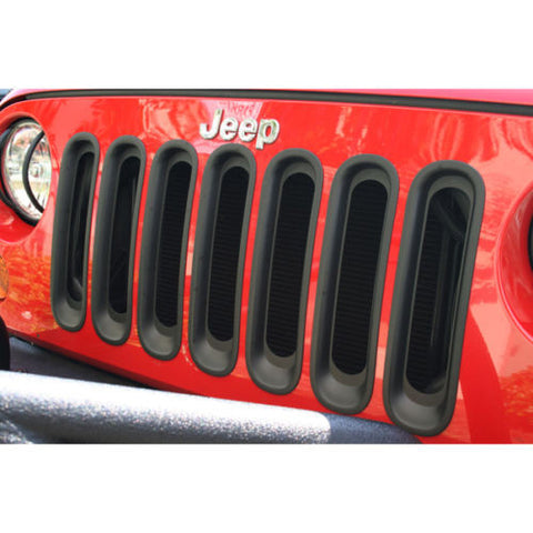 2007-2016 Jeep Wrangler Grill Insert Kit Black