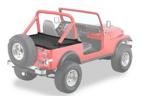 1987-1991 Jeep Wrangler Tonneau Cover for Hard Top Model in Black Denim