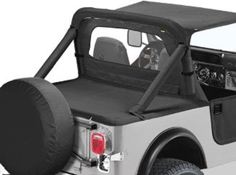 1987-1991 Jeep Wrangler Bikini Top, Windbreaker & Tonneau Cover in Black Denim