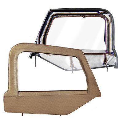1997-2006 Jeep Wrangler Replacement Upper Window Doors with Frame Spice