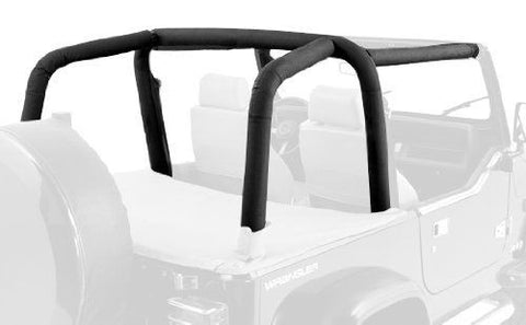 1992-1995 Jeep Wrangler Rampage Roll Bar Padding Kit Black