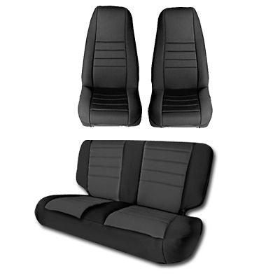 Jeep Seat Covers >> 1987 1990 Jeep Wrangler Smittybilt Neoprene Seat Cover Kit Color Options
