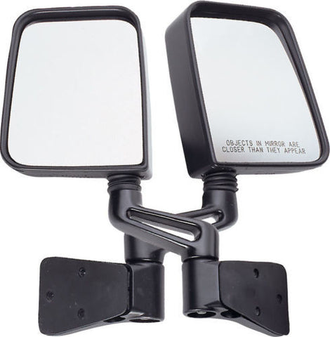 1987-1995 Jeep Wrangler Rough Trail Replacement Full Size Mirrors in Black