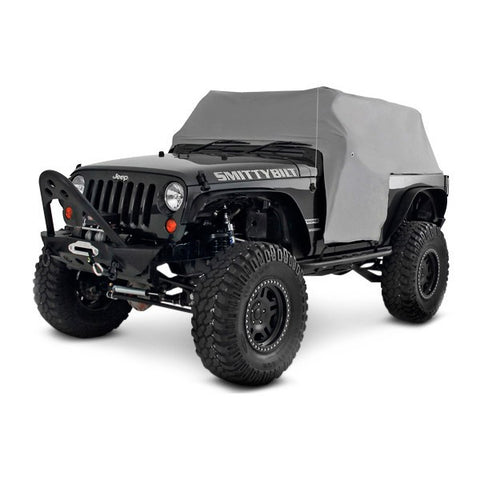 2007-2017 Jeep Wrangler 2 Door Smittybilt Cab Cover with Door Flaps in Gray