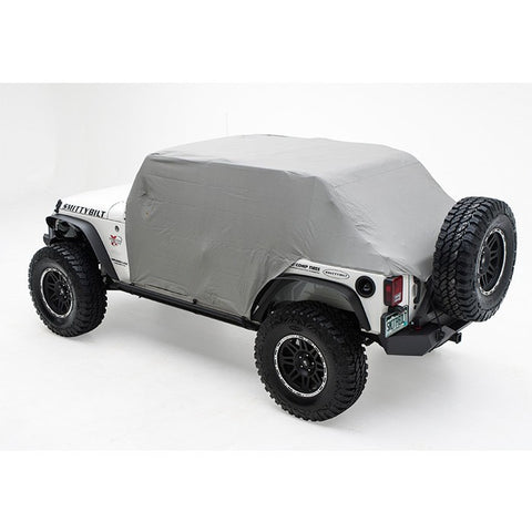 2007-2016 Jeep Wrangler Unlimited Smittybilt Cab Cover with Door Flaps in Gray