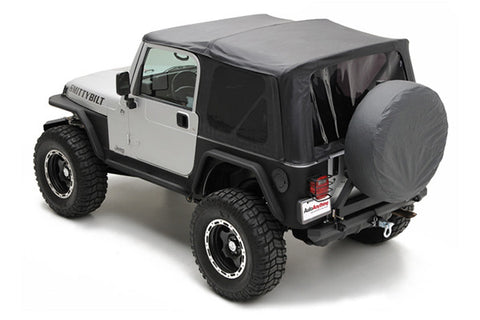 1997-2006 Jeep Wrangler Replacement Soft Top with Tinted Rear Windows Black Diamond