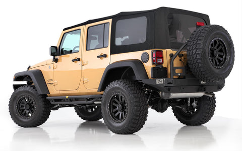 2007-2009 Jeep Wrangler Unlimited Replacement Premium Soft Top with Tinted Windows Black Twill