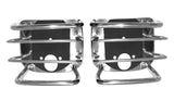 1976-2006 Jeep Wrangler & CJ Smittybilt Rear Euro Tail Light Guards in Stainless Steel
