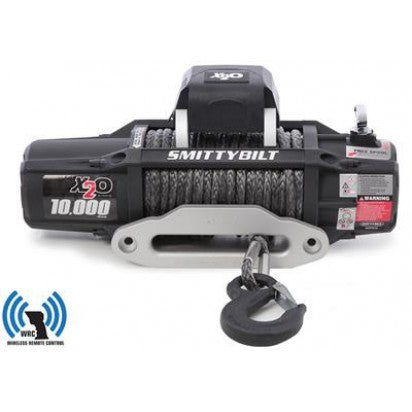 Smittybilt X2O-10K Waterproof Wireless Gen2 with Synthetic Rope Winch