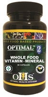 Optimal 2 Whole Food Vitamin Mineral 90 Caps Optimal Health Systems OHS