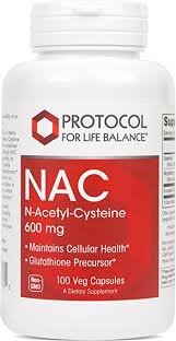 NAC 600 mg 100 caps PROTOCOL FOR LIFE