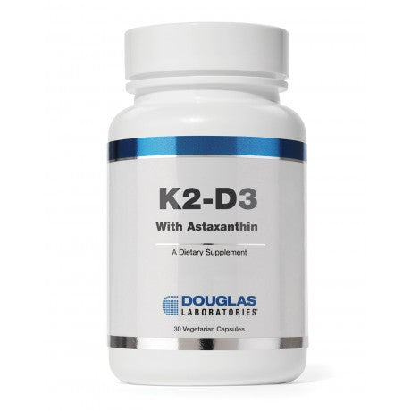 K2-D3 with Astaxanthin 30 vCaps DOUGLAS LABS - Seabrook Wellness - Douglas Labs