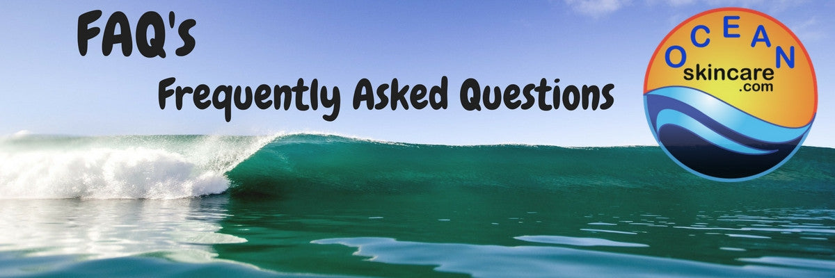 SeaQuarius Skincare FAQ's Frequently Asked Questions