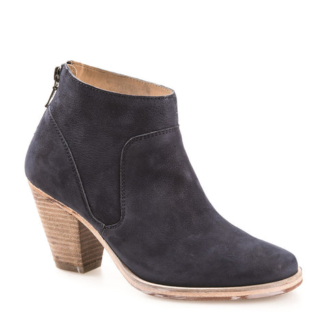 WOMEN'S BELGRAVE NAVY LEATHER ANKLE BOOT