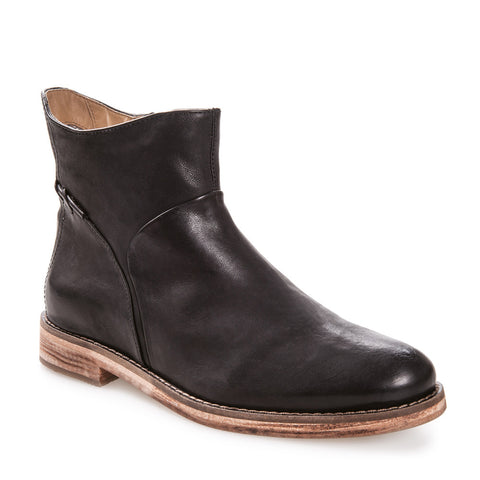 Women's Cait Black Leather Zip Up Bootie