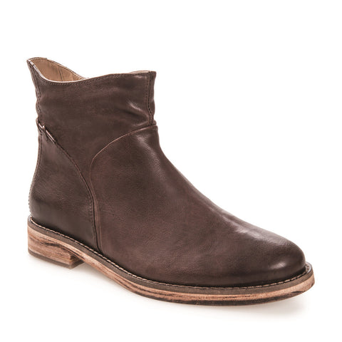 Women's Cait Dark Brown Leather Zip Up Bootie