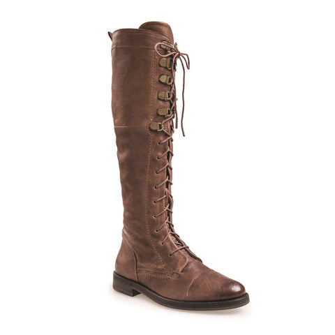 Women's Cari Tan Lace Up Tall Leather Boot