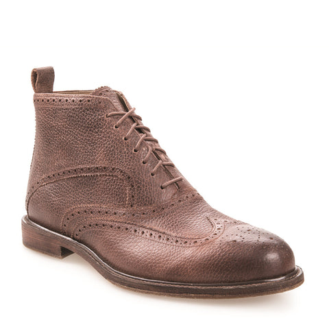 Men's Francis Brown Ambra Leather Brogue Boot