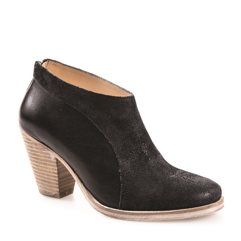 WOMEN'S LUCIA BLACK LEATHER ANKLE BOOT