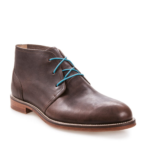 Men's Monarch Dark Brown Leather Dress Chukka Boot