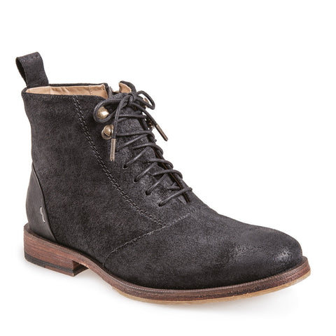 Women's Pasos Black Lace Up Leather Boot