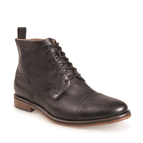 MEN'S RAIDER BLACK LACE UP LEATHER DERBY BOOT