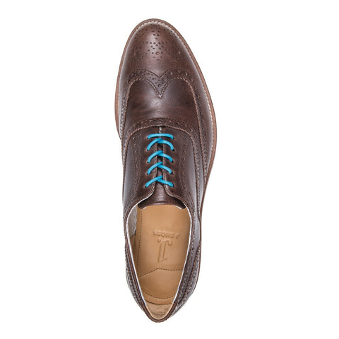 MEN'S CHARLIE DARK BROWN LEATHER DRESS BROGUE