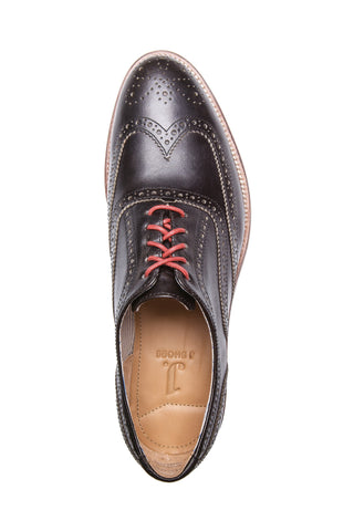 MEN'S CHARLIE BLACK LEATHER DRESS BROGUE