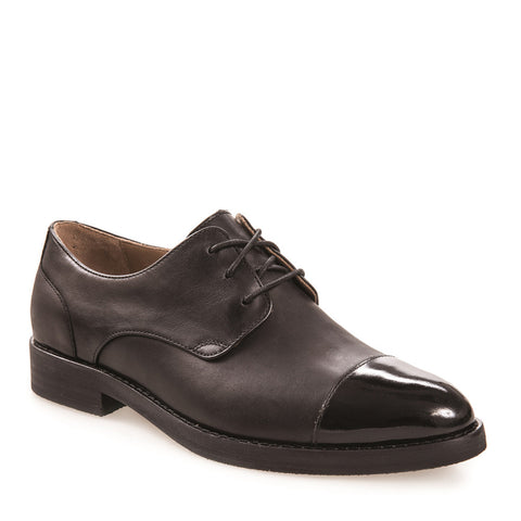 Women's Sally Black Leather Derby