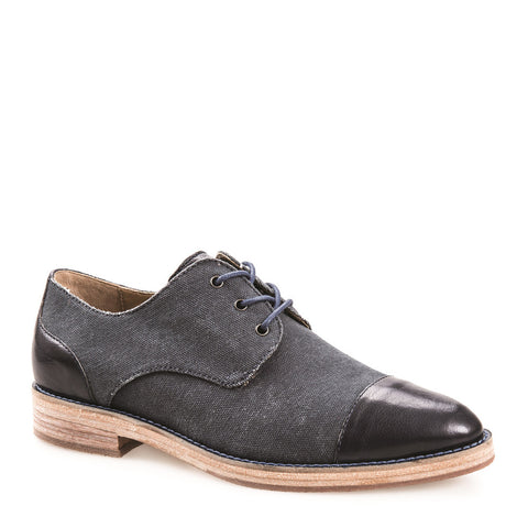 WOMEN'S SALLY NAVY LEATHER DERBY
