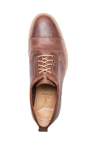 MEN'S SIERRA CARAMEL BROWN LEATHER DERBY
