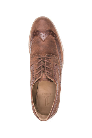 WOMEN'S DAZE DARK TAN MENSWEAR INSPIRED BROGUE OXFORD
