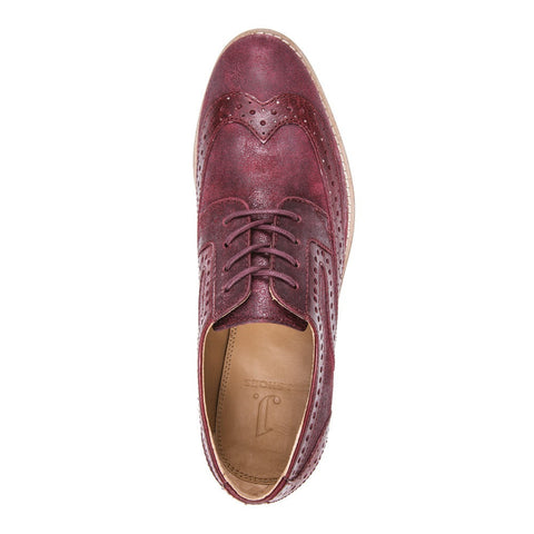 WOMEN'S DAZE BERGUNDY MENSWEAR INSPIRED BROGUE OXFORD
