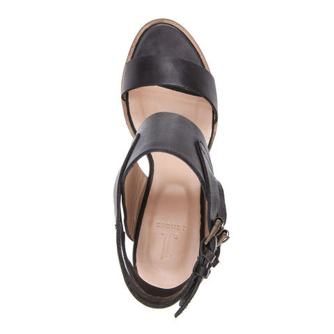 WOMEN'S KAREN BLACK LEATHER SANDAL