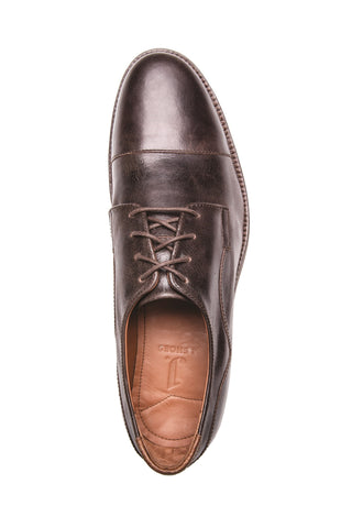 MEN'S INDI TMORO BROWN LEATHER DERBY