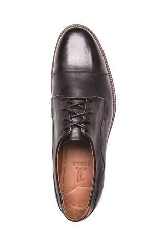 MEN'S INDI BLACK LEATHER DERBY