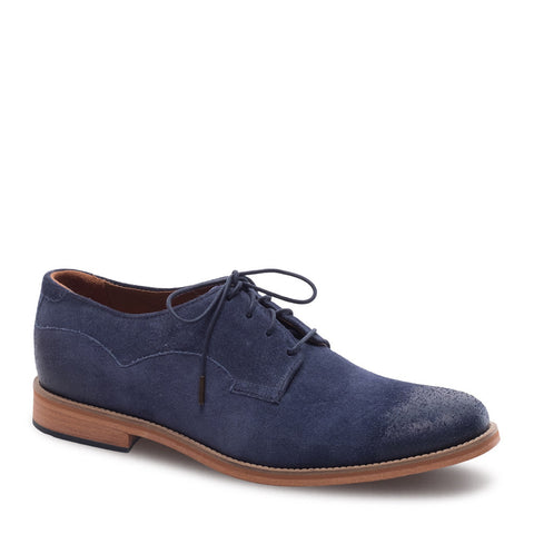 Men's Indi Blue Suede Derby