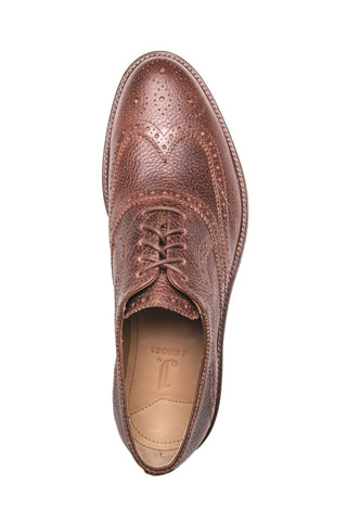 Men's Spencer Ambra Brown Leather Brogue Oxford