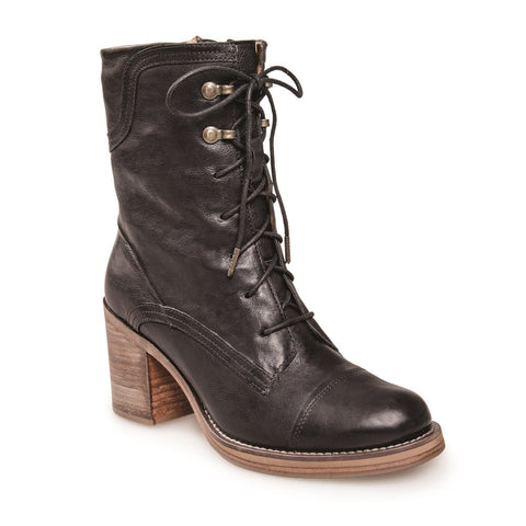 WOMEN'S APHEX BLACK LACE UP LEATHER BOOT