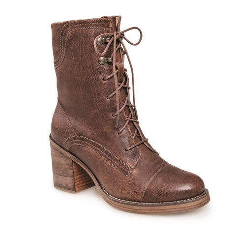 WOMEN'S APHEX TAN LACE UP LEATHER BOOT