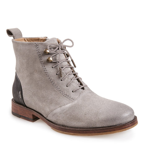 WOMEN'S PASOS GREY LACE UP LEATHER BOOT