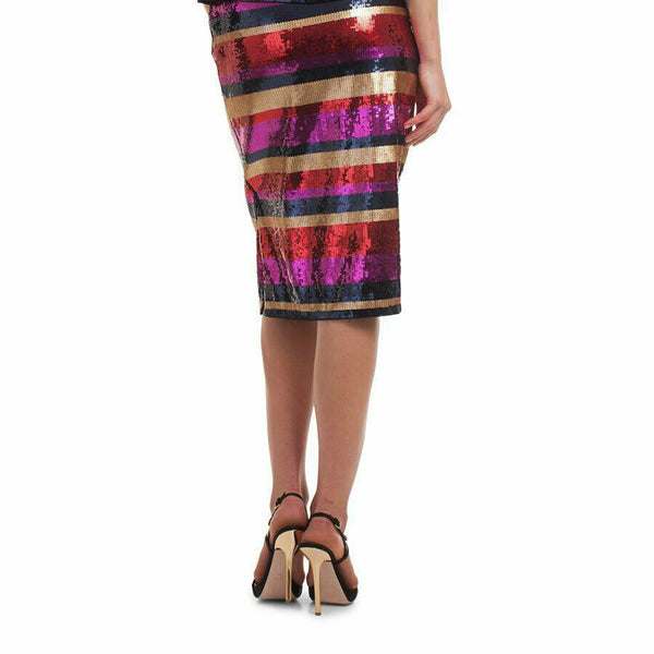 Trina Turk Womens Cava Striped Sequin Pencil Skirt Size 2 $398
