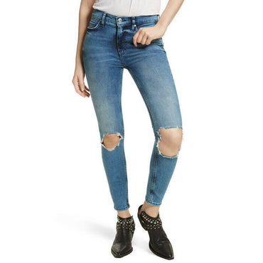 Free People Size 26 Busted Knee Skinny Stretch Jeans Retail $78