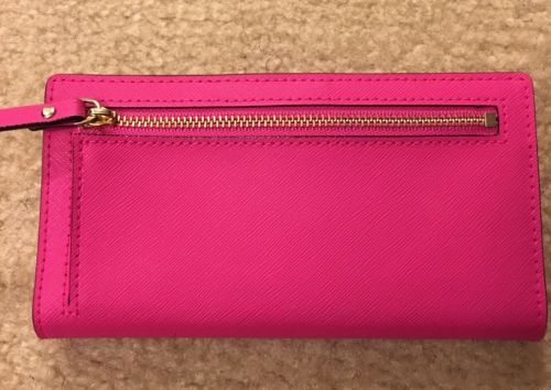 Kate Spade Stacy Laurel Way Leather Wallet Peony Pink 670 WLRU2673 NWT